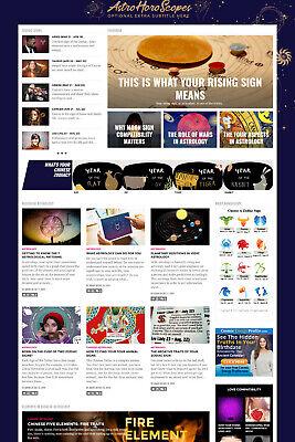 Established Astrology Daily Horoscope Zodiac Website For Sale