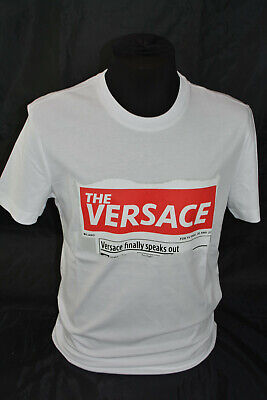 BNWT VERSACE  UNISEX T-SHIRT MADE IN ITALY , WHITE  ,SIZE L,XL,XXL