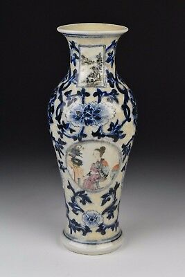 19th Century Chinese Famille Rose Porcelain Vase