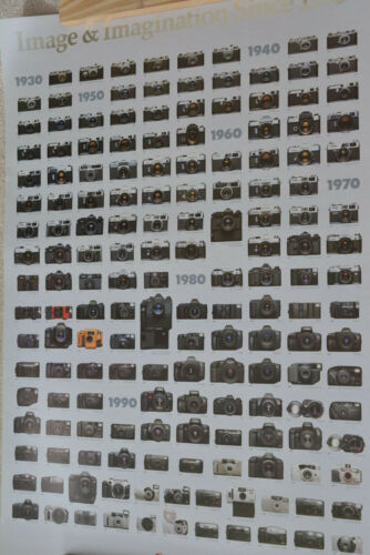"""Canon Original Family Tree Camera Poster 35mm 1934-1997 Large 24""""x33"""" NOS"""