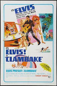 ELVIS-PRESLEY-CLAMBAKE-HIGH-QUALITY-VINTAGE-MOVIE-MUSIC-POSTER