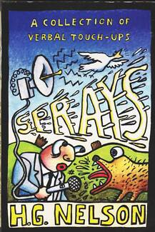 SPRAYS: A COLLECTION OF VERBAL TOUCH-UPS  H.G. Nelson ~ 1st Ed SC Perth Region Preview
