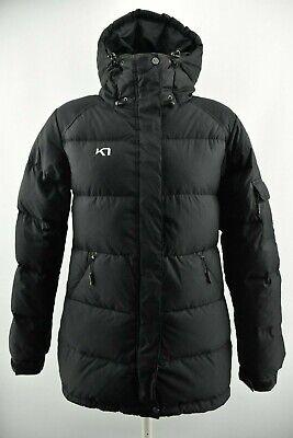 Kari Traa Women`s Down Jacket Padded Hooded Black Lined Coat Size M