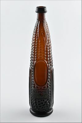 Antique National Bitters Patent 1867 Figural Ear of Corn Glass Bottle