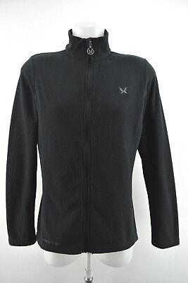 KARI TRAA Womens Fleece Full Zip Black Long Sleeve Jacket Size L