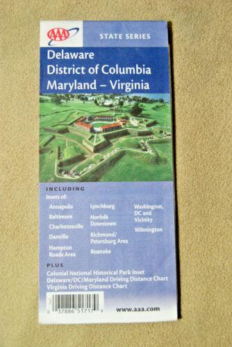 Delaware - District of Columbia - Maryland - Virginia - AAA Map - June, 2003