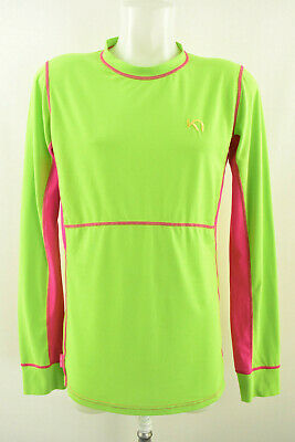 KARI TRAA Womens Dri Release Wool Top Shirt Active Long Sleeve Size XL