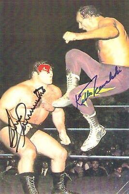 Bruno Sammartino vs George Steele signed 8x10 #2  w//COA