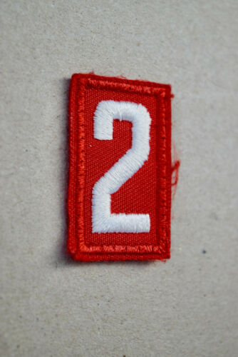 BSA #2 Red White Uniform Troop Number Cub Boy Scouts of America Shirt
