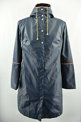 Cruise by Ilse Jacobsen Women`s Raincoat Water Repellent Hooded Jacket Size M