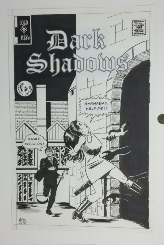 Original Production(?) comic art * DARK SHADOWS