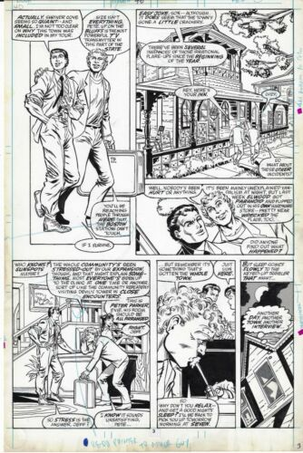 WEB OF SPIDER-MAN # 46 PAGE  MARVEL 1988 ALEX RICHARD HOWELL KEITH WILLIAMS