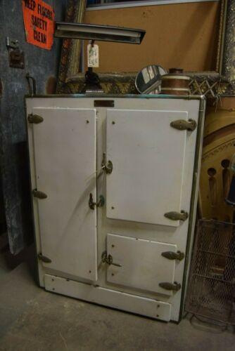 Antique Bohn Sanitor Ice Box Fridge Refrigerator
