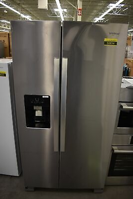 """Whirlpool WRS325SDHZ 36"""" Stainless Side By Side Refrigerator NOB #50834 MAD"""