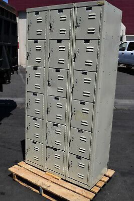 Hallowell U3258-6g-pt Box Compartment-school-gym-lockers-locker-boys Cubby Metal