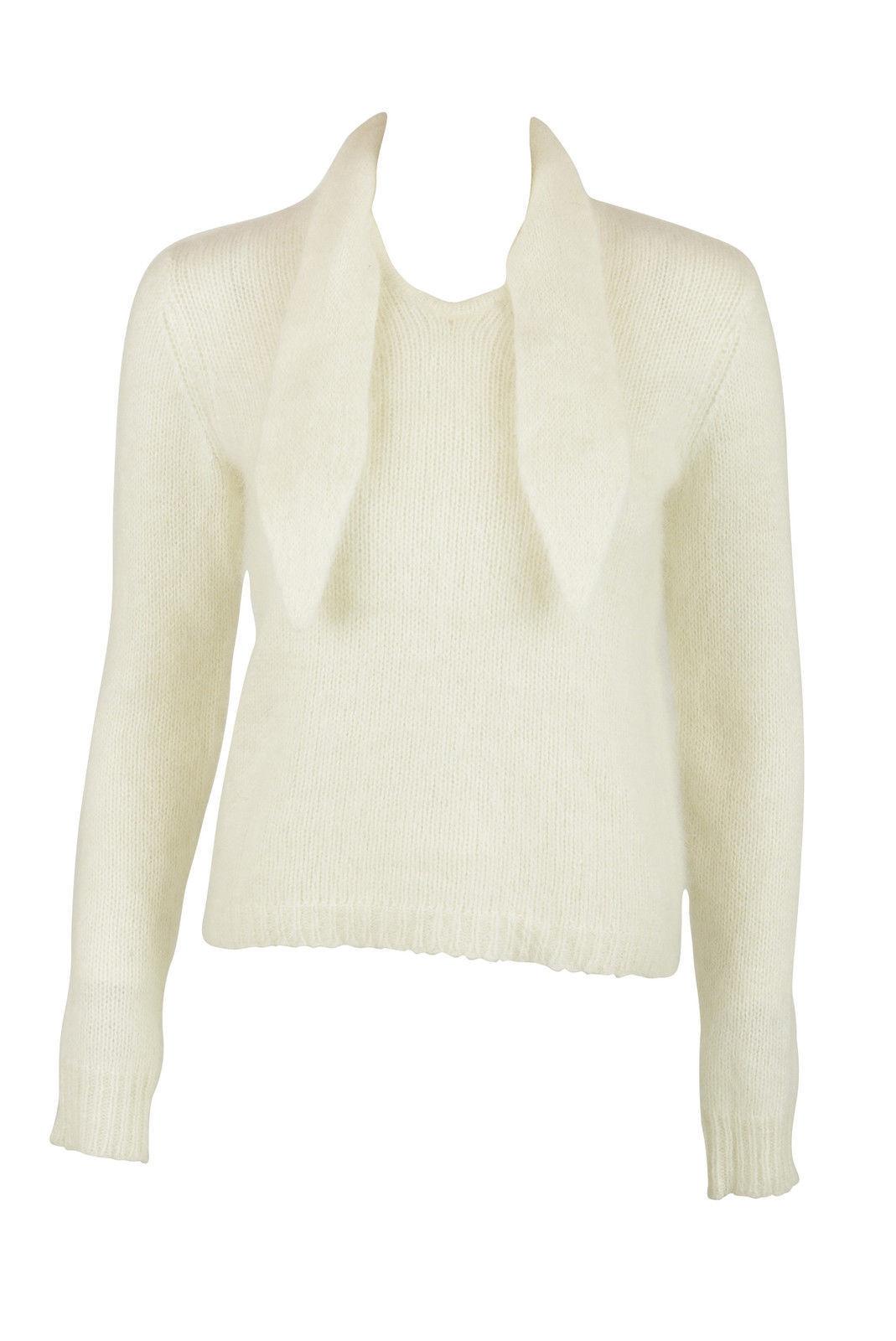 Ausverkauf Rick Cardona Poncho Shirt Pullover Spitze Gr.36 //38 38//40 ecru weiß