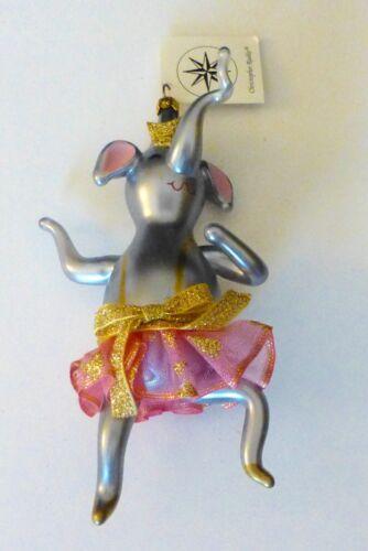 Christopher Radko 1995 NANETTE EN POINTE Elephant Christmas Ornament..ITALIAN