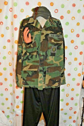 WALKING DEAD  MENS Medium army SHIRT  fake hand hat + HALLOWEEN COSTUME DRESS UP