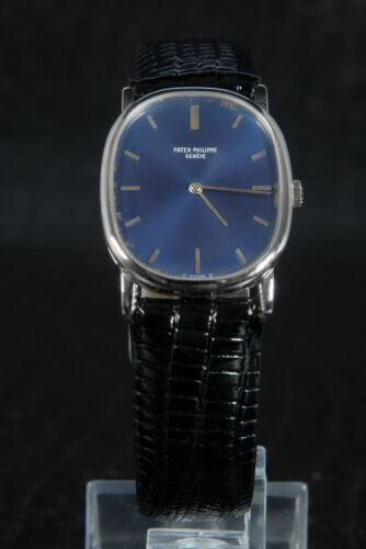 PATEK PHILIPPE Ellipse 18K White Gold Blue Patina Dial Mens Watch Caliber 23-300 - watch picture 1