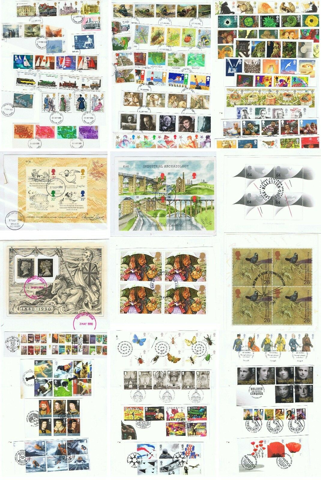 Decimal USED YEAR SETS 1971 - 2008 EX FDC M/S sold separately  DISCOUNTS to 50%