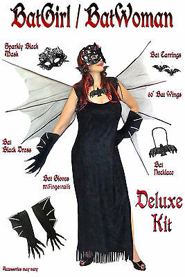 Sexy Plus Size Bat Woman / Bat Girl Halloween Costume 1x 2x 3x 4x 5x 6x 8x TALL