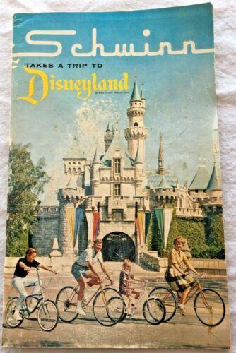 Vtg 1966 Schwinn Takes a Trip to Disneyland Bicycle Catalog Color Amusement Park