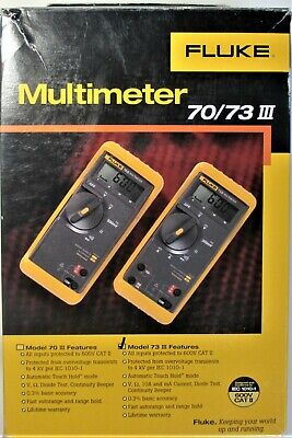 Fluke 73 Lll Series 3 Multimeter Complete Nos Boxed Set In Excellent Condition