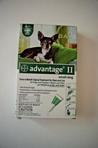 Advantage II Small Dog 4-Pack Flea Lice Larvae Topical Treatment Bayer