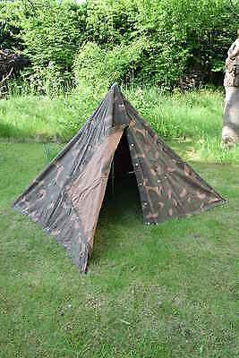 ORIGINAL ungarisches Armeezelt 2-Mannzelt mit Zubehör BW Zelt Camping Poncho
