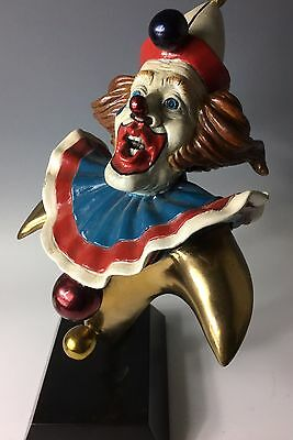 PAUL WEGNER Signed BRONZE SCULPTURE Clown Circus Statue poster