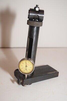 Vintage Starrett Model 196 Dial Indicator And Indicator Holder