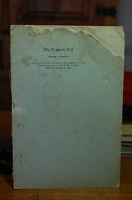 The Typhoid Toll By George A Johnson 1916 Journal American Water Works