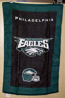 """Kr Nfl Team Bowling Towel Philadelphia Eagles 100% Cotton 16""""x26"""" Poly Bag"""