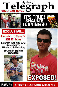 Personalised Adult Invitation 18th 21st 30th Male Birthday Surprise Photo invite