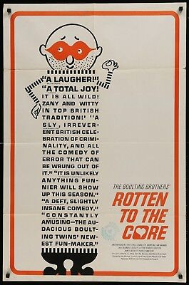 ROTTEN TO THE CORE Charlotte Rampling Original 1965 1-SHEET MOVIE POSTER 27 x 41 Core Movie Poster