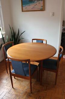 Parker Dining Set Table And 4 Chairs Mid Century Retro