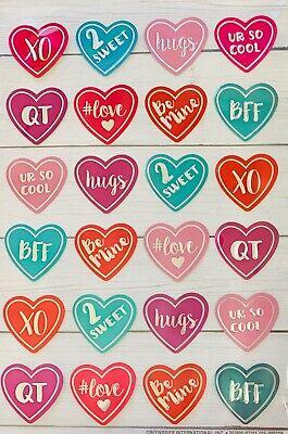 Valentine Day Crafts ( Valentine's Day Conversation Heart Stickers Planner Papercraft DIY Craft)