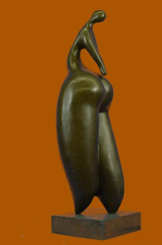 Genuine Bronze Mid Century Modern Artwork Brown Patina Botero Tribute Statue LRG