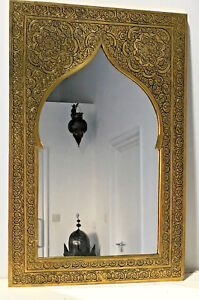 Authentic Handmade Moroccan Mirror with Brass Coloured Frame ***CLEARANCE***