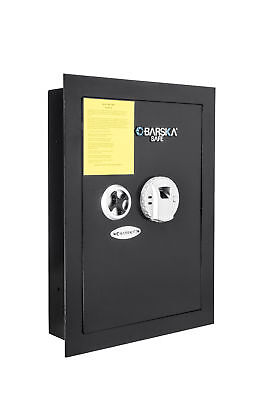Barska Biometric Wall Safe W Fingerprint Lock Knob Back Up Keys Br12940