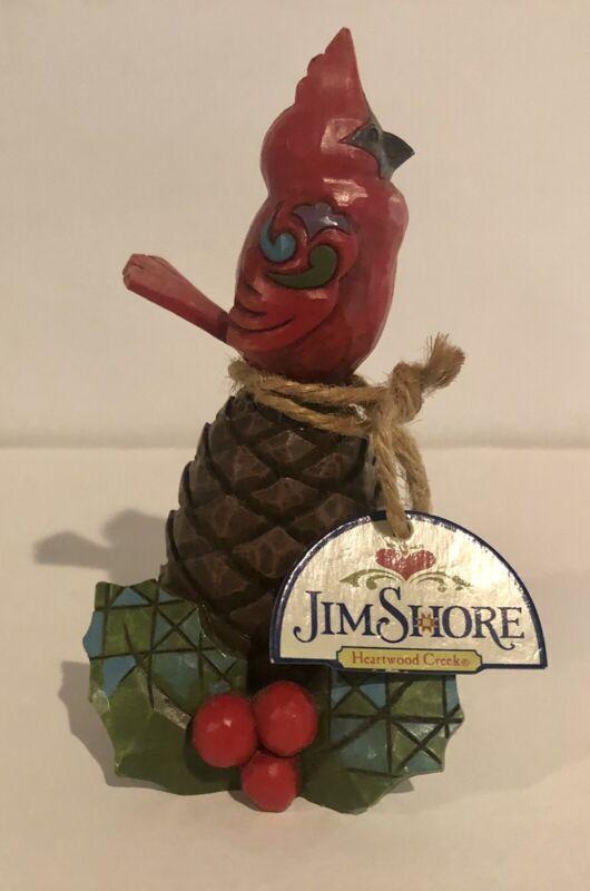 Jim Shore Heartwood Creek Mini Figurine - Christmas Cardinal - 4027769