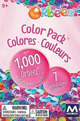 NEW 2016 Maya Group Orbeez 7 Colors Pack Refill Kit spa - Includes 1,000 Orbeez