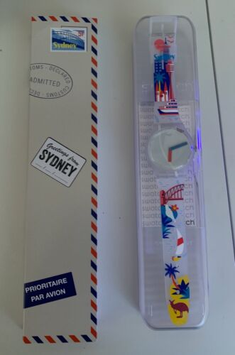 """DESTINATION SWATCH Greetings from SYDNEY Australia New in Box SUOW137C """"LIMITED"""""""