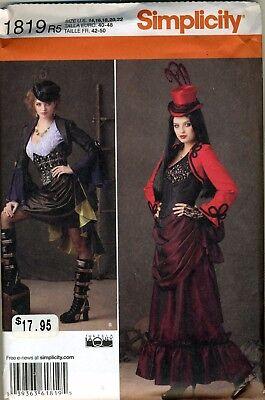 Simplicity 1819 Victorian Steampunk Costume SZ 14-22 Halloween