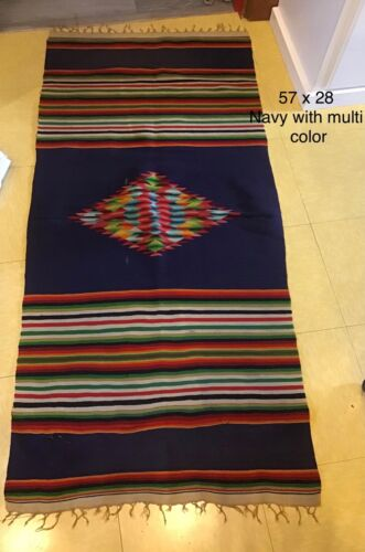 Woven Navaho colorful Saddle Blanket Multi Colored