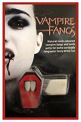 unheimlich Halloween Vampir Zähne natürlich Hundezahn Kitty Schminke (Vampir Hund Kostüme)