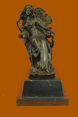 Victorian Princess Lady Attractive Bronze Art Sculpture Statue Figurine Decor Bronze Sculpture Statue Figurine