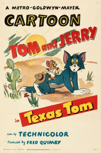 Tom and Jerry movie poster  : 11 x 17 inches : Texas Tom