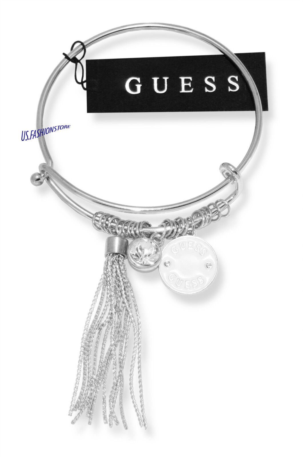 GUESS Damen Schmuck Armreif Armband Bracelet Silber Strass Beauty