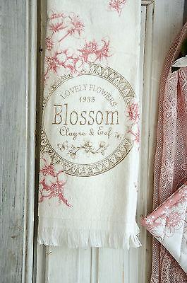 Clayre & Eef Geschirrtuch Handtuch Frotteé Blossom Shabby Chic Landhaus Vintage